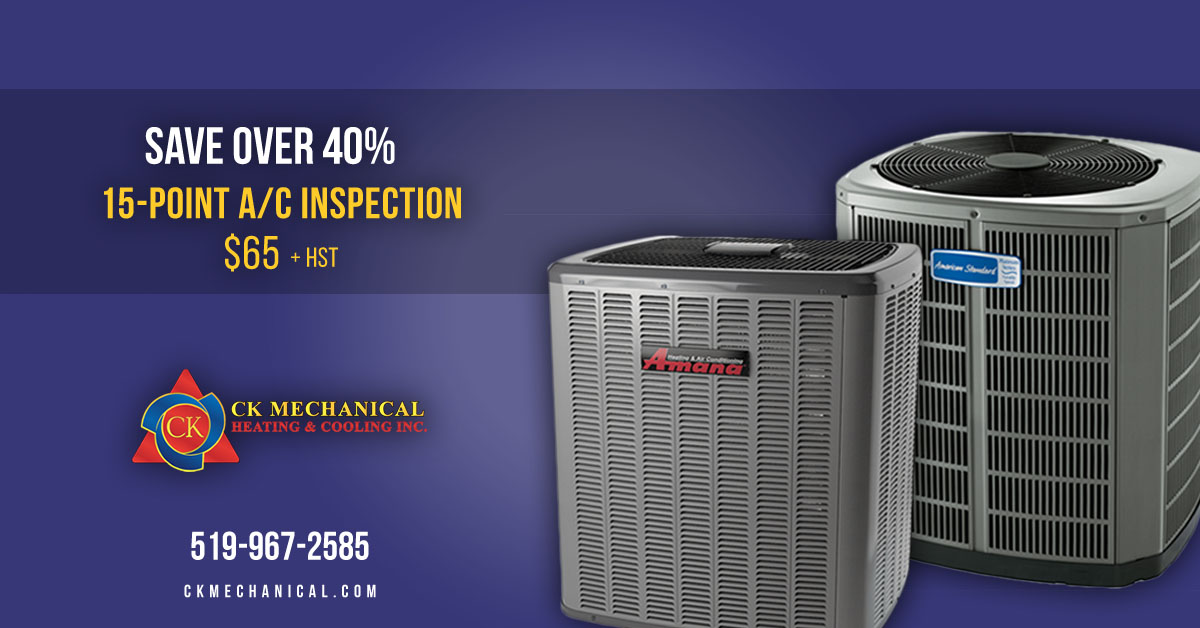 15-Point Air Conditoiner Inspections in Windsor and Essex County for $65 + Tax. Save 40%!