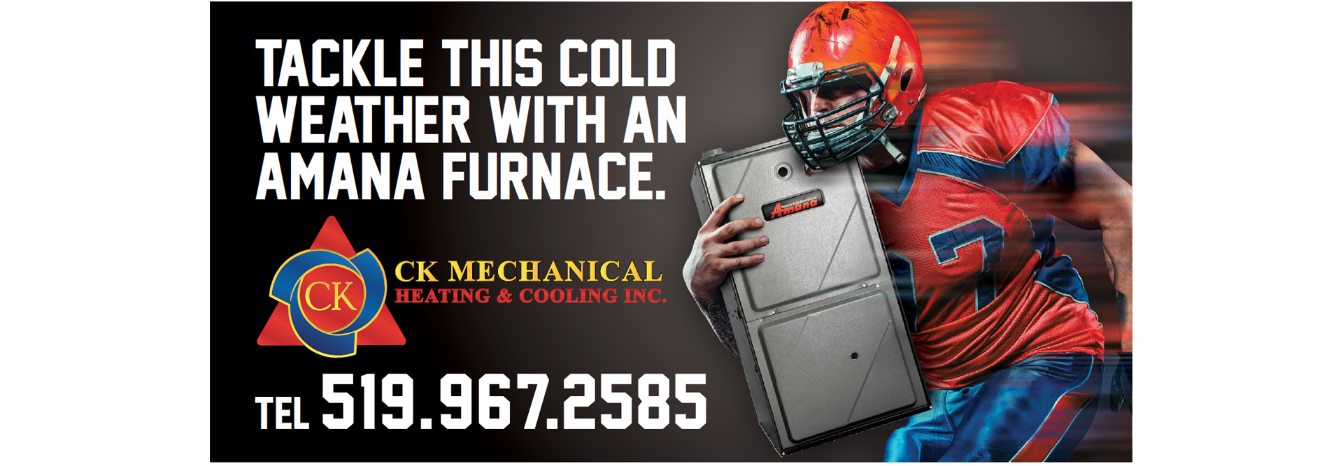 Tackle the cold with an Amana Furnace from CK Mechanical