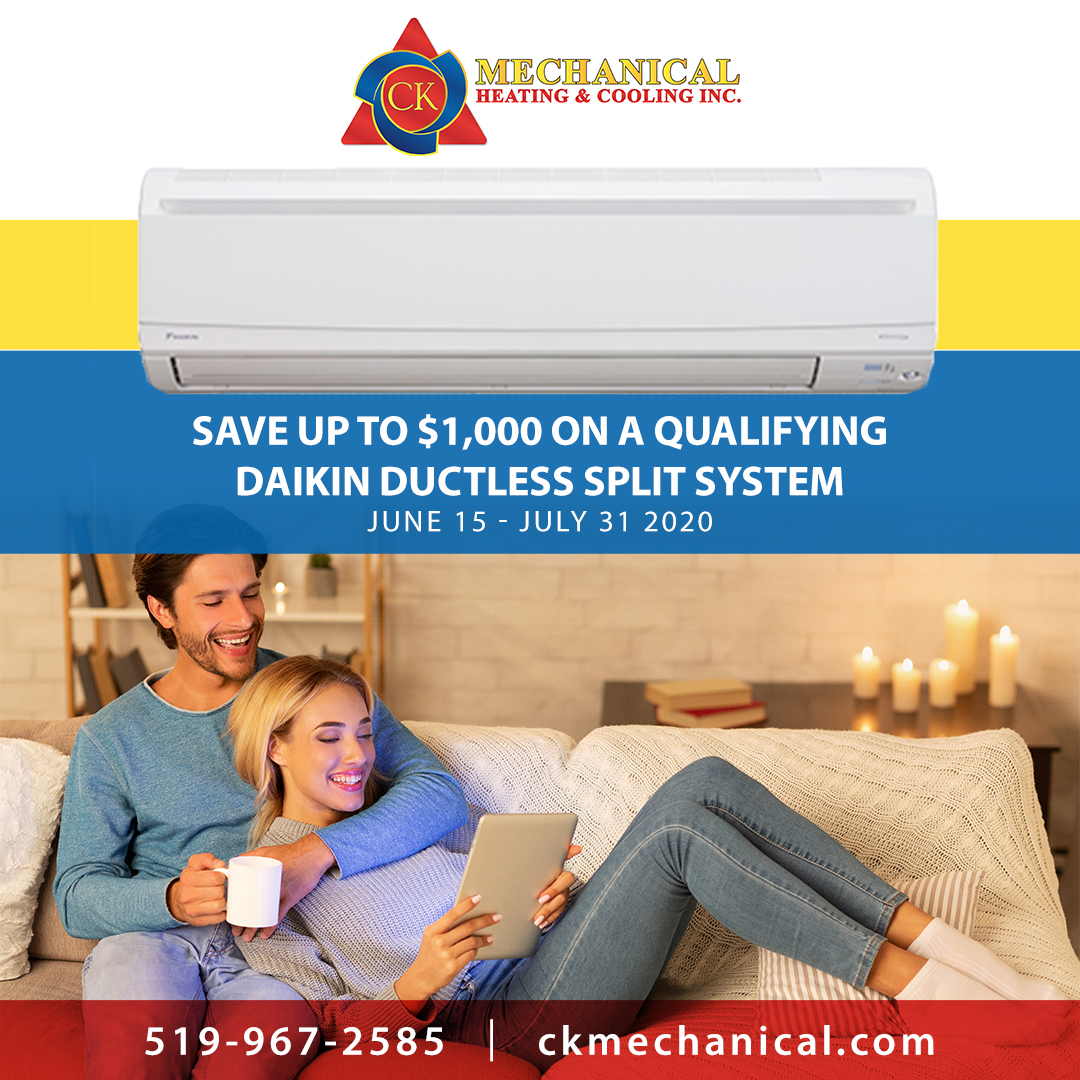 Save up to $1,000 on a Daikin Ductless Split System