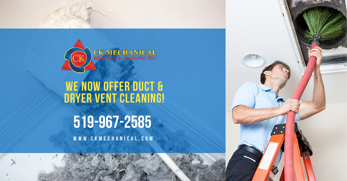 Duct Cleaning and Dryer Vent Cleaning in Windsor and Essex County from CK Mechanical