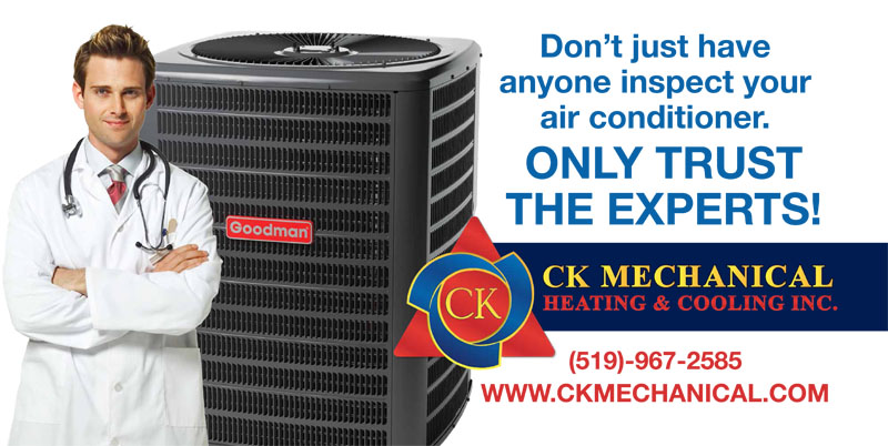 Don't just have anyone inspect your air conditioner. Only trust the experts at CK Mechanical.