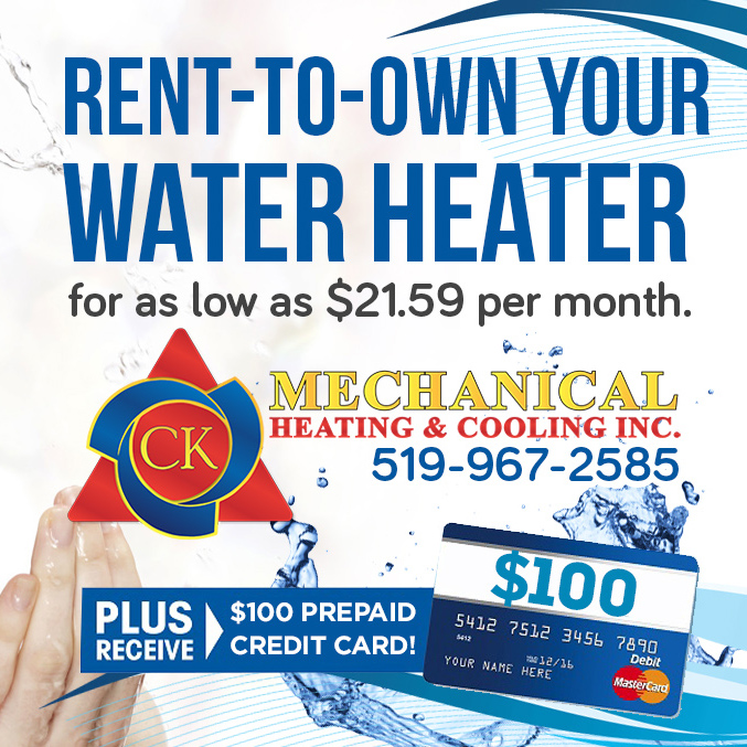 Rent-to-Own Water Heaters in Windsor-Essex