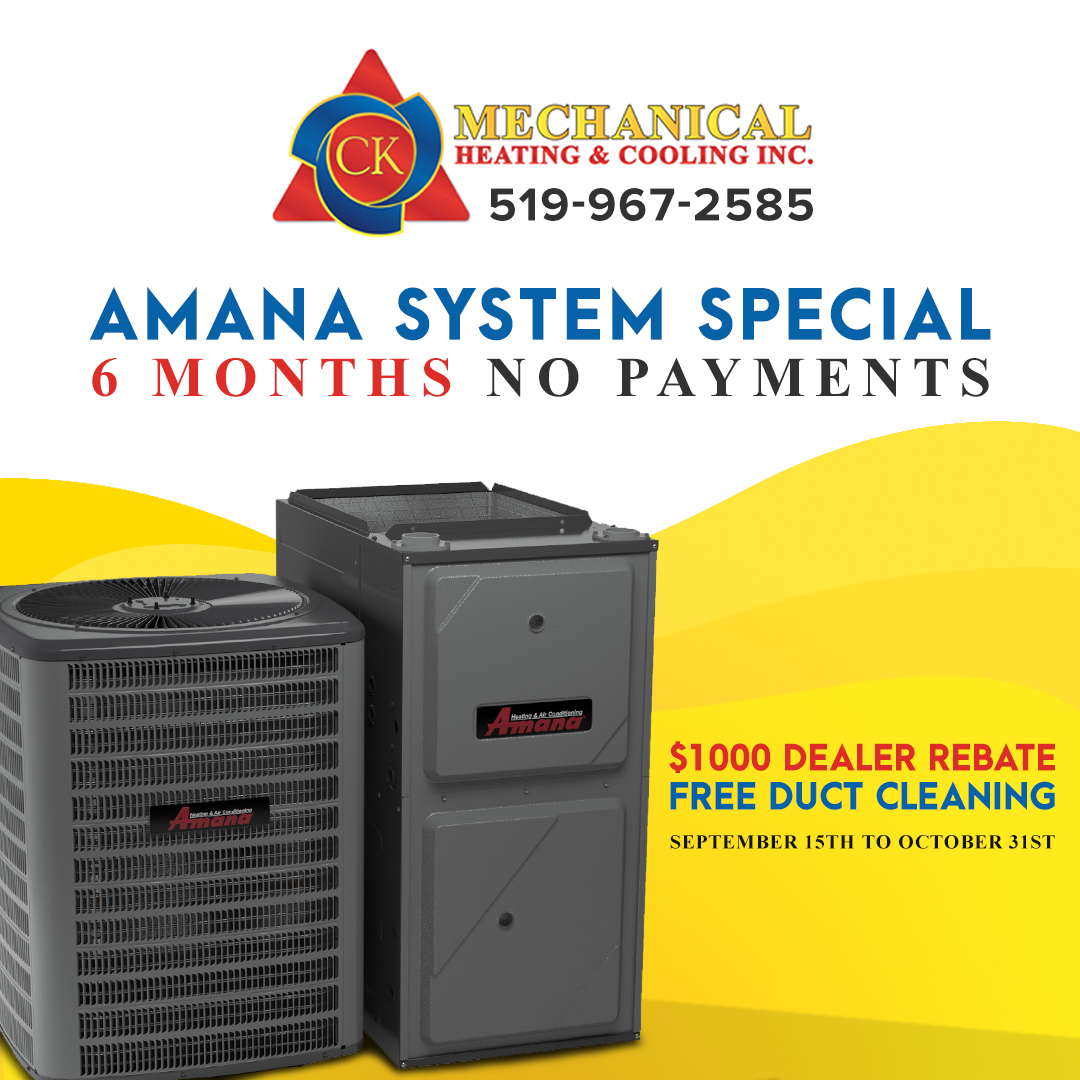 Check Out Our Fall Special on Complete Amana Systems